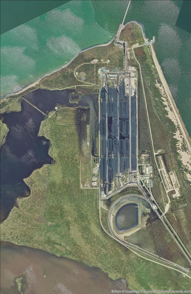 The Abbot Point coal terminal as seen from above.