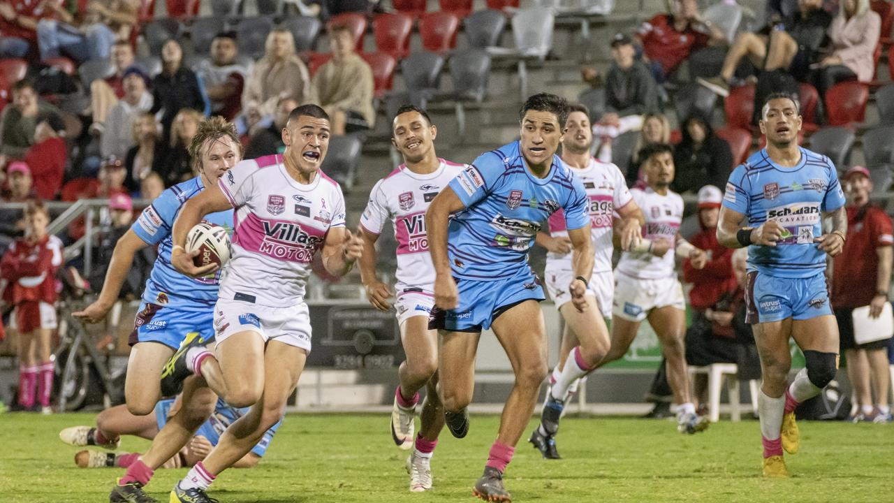 Izaia Perese scored three tries for the Redcliffe Dolphins against the Capras at the weekend.