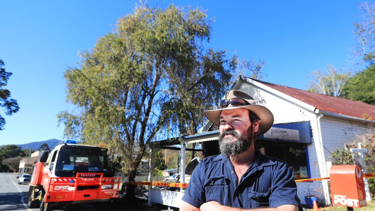 FIRST FIGHTER: Tyalgum resident and business owner, Steve Guinea, was the first on the scene of the Tyalgum fire which destroyed two businesses on Coolman St.