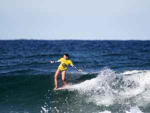 Emily Lethbridge won the Australian longboard