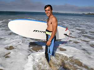 Federico Usai on holiday from Italy ready to surf at