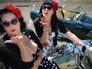 """Pin Up girls Kathleen Ashworth and Renae """"Miss Hg"""