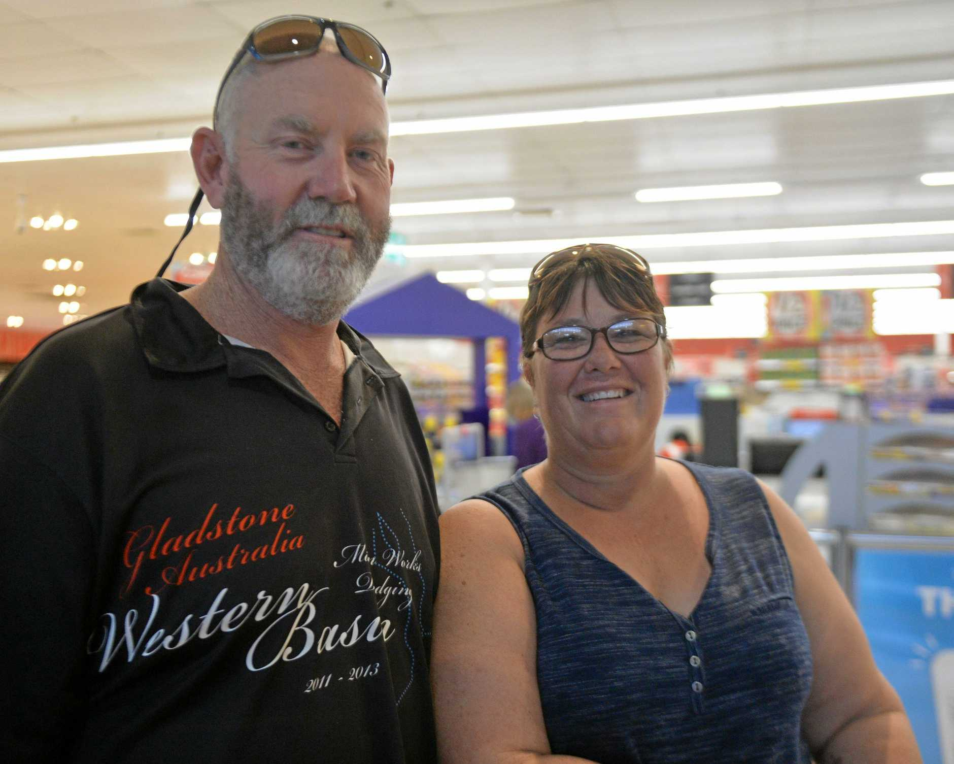 At the Sydney St Coles Ray Smith and Jodie Smith said they choose their grocery stores by convenience. Mr Smith said they usually visit the shop