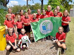 The Tinana students first to fly eco-flag for Australia
