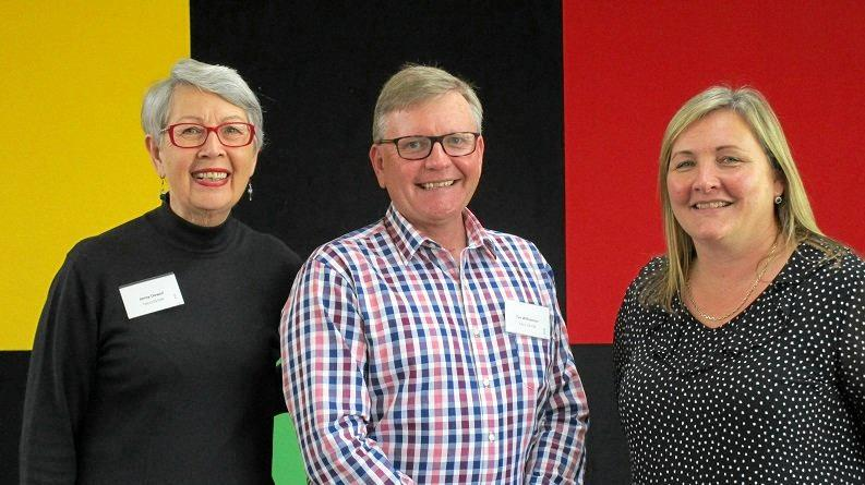 GREAT MINDS: Regional Development director Tim Williamson with RDA Northern Rivers committee member Jenny Dowell and NSW Business Chamber's Jane Laverty at the Future Northern Rivers Think Tank.