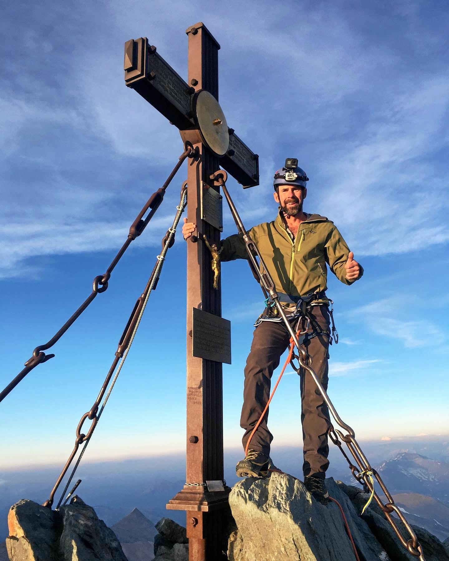Ipswich climber Ricky Ellis climbed Grossglockner.