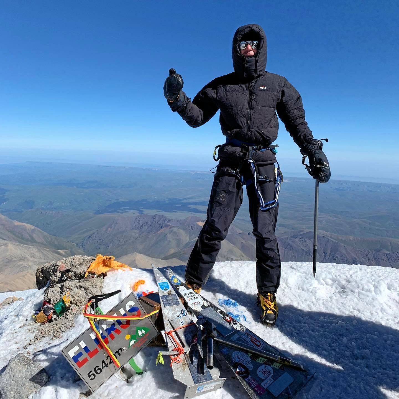Ipswich climber Ricky Ellis climbed Mount Elbrus.