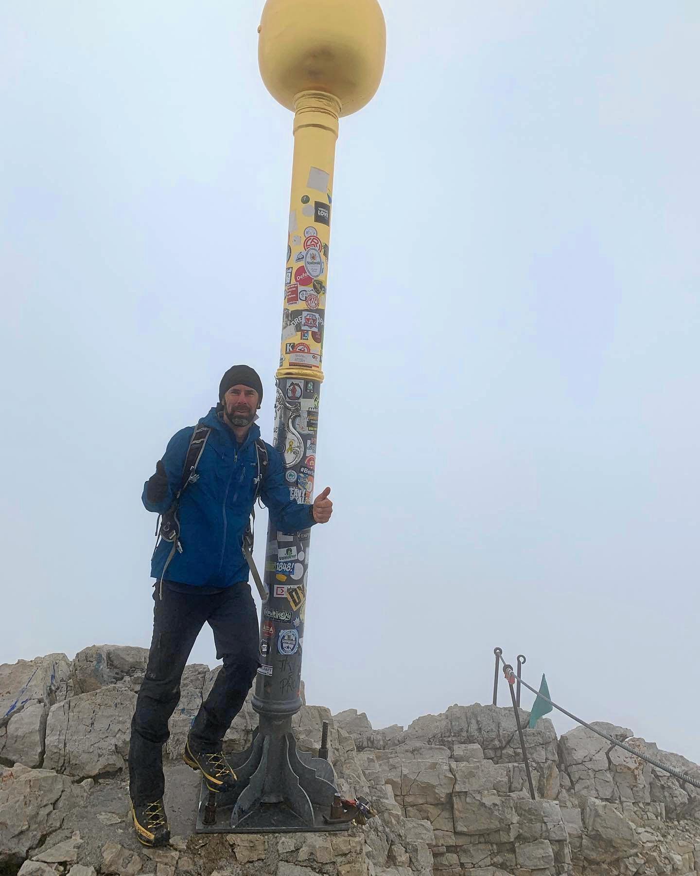 Ipswich climber Ricky Ellis climbed Zuqspitze.