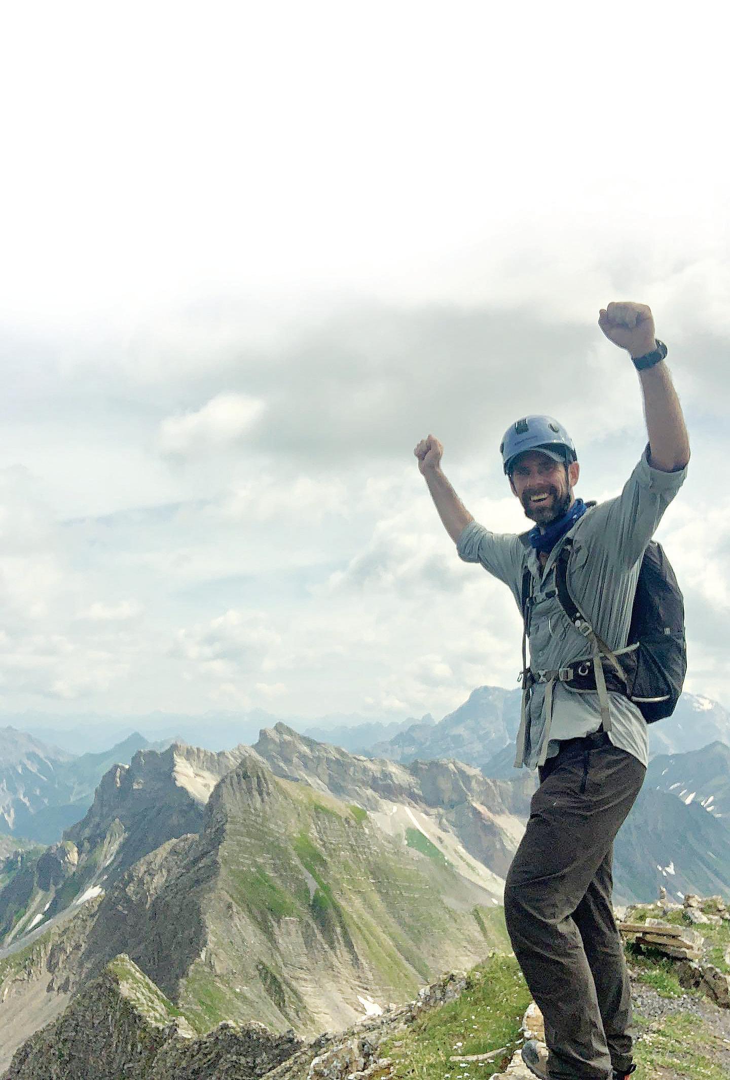 Ipswich climber Ricky Ellis climbed Vorder Grauspitz.