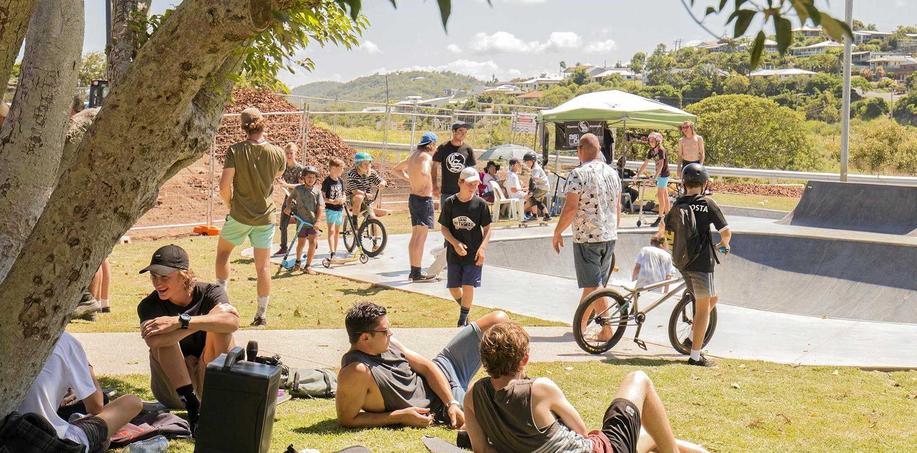 FUTURE DECISIONS: The Yeppoon Skate Park's re-opening back in 2017.