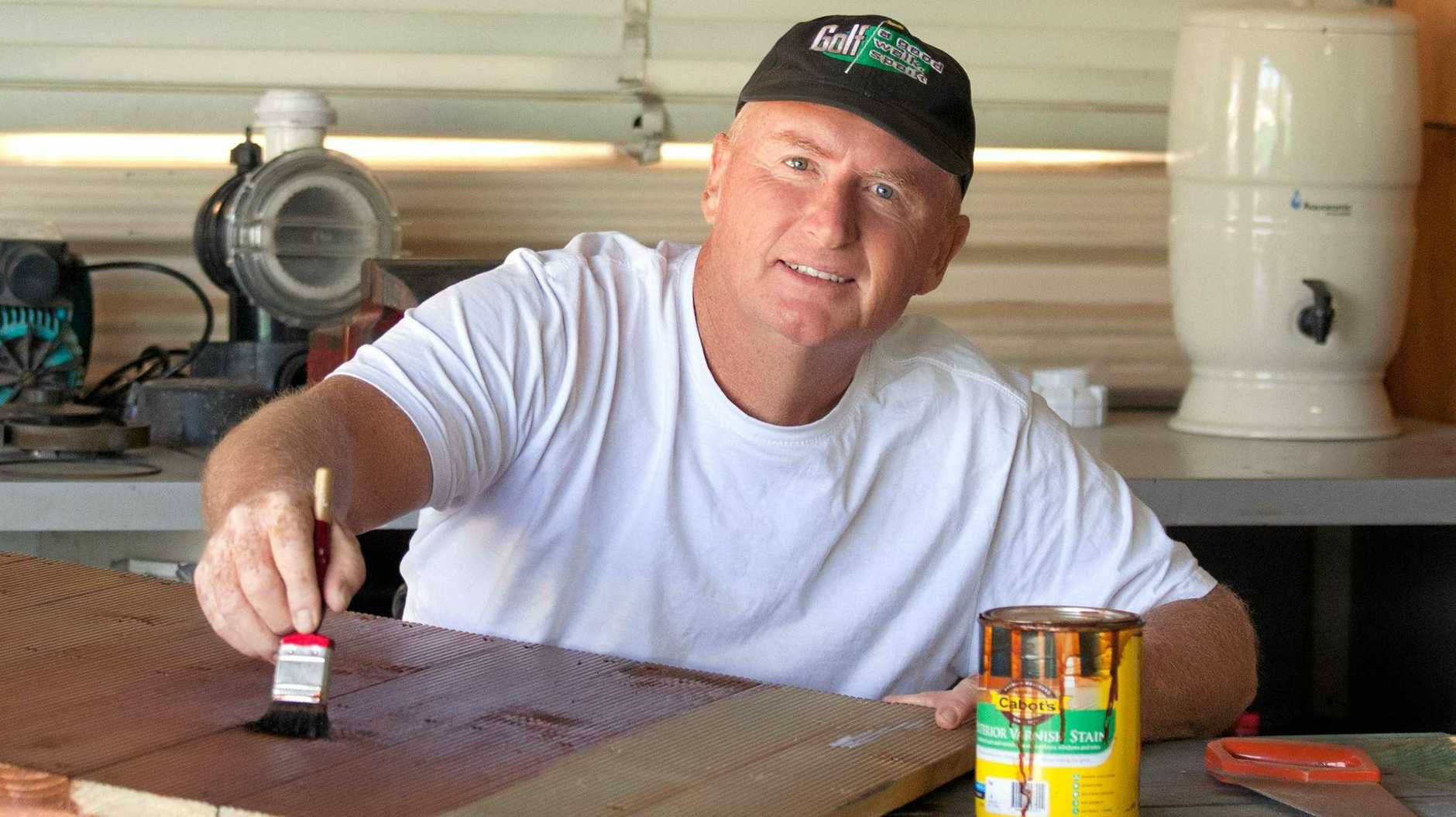 HELPING HAND: Clive Byers is waiting on the phone call that could change his life.