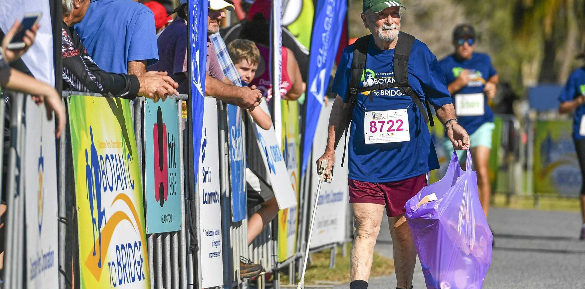 MAKING A DIFFERENCE: Brian Farber at the running of the tenth Gladstone Botanic To Bridge fun run at the Gladstone Marina Parklands.