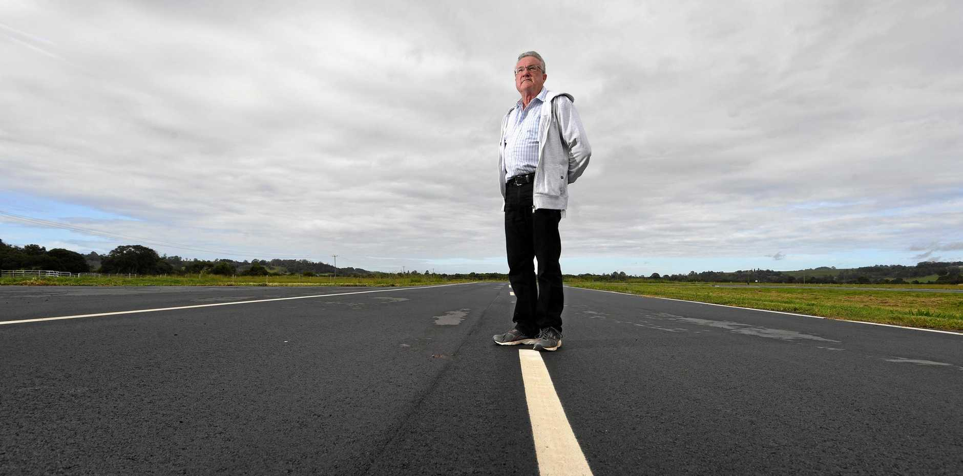 LADS secretary Rob Wells at the driver education track in Lismore aimed at curbing fatal and life-altering crashes.