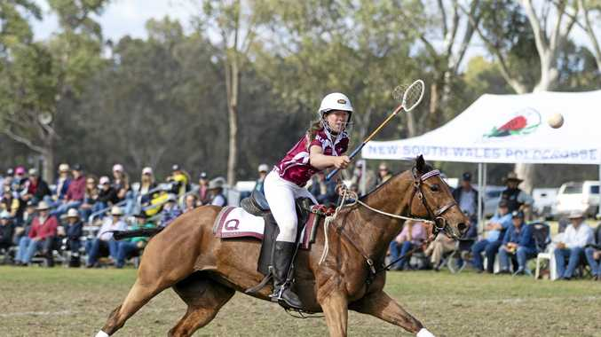 Player in club's first women's team home for polocrosse