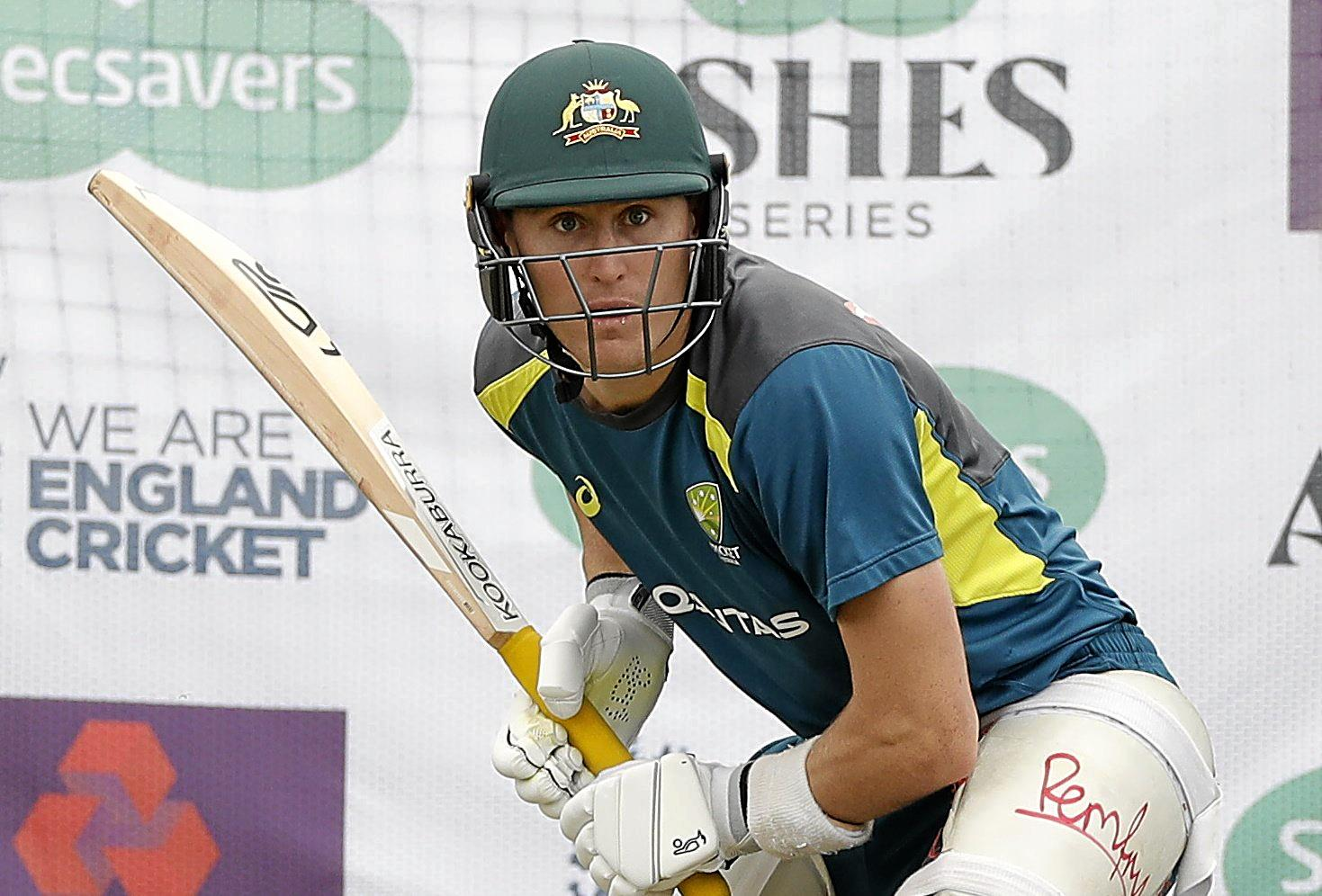 LEEDS, ENGLAND - AUGUST 20: Marnus Labuschagne of Australia bats during the Australia Nets session at Headingley on August 20, 2019 in Leeds, England. (Photo by Ryan Pierse/Getty Images)