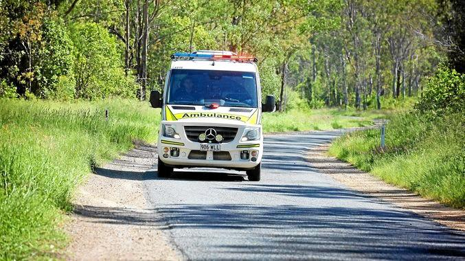 Queensland Ambulance on its way to an accident.