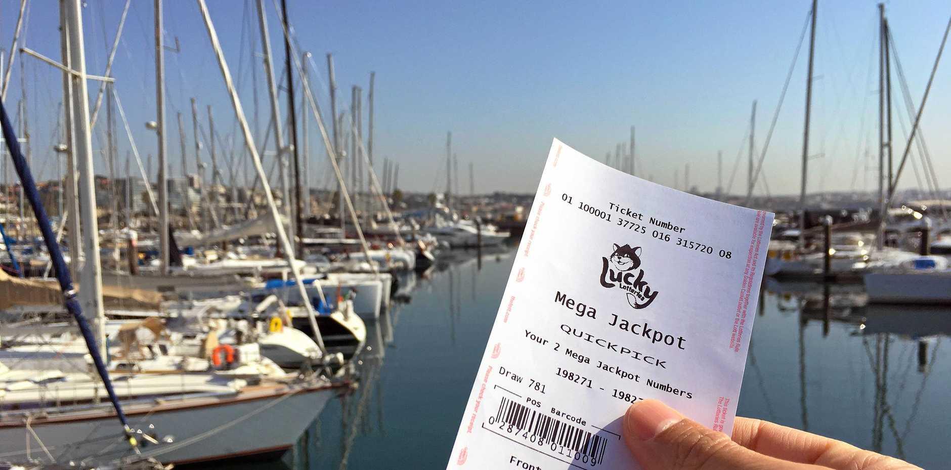 Lotto win, winning ticket, NSW Lotto, generic lottery ticket win.