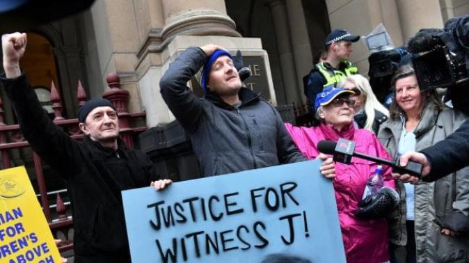 When word filtered out that Pell's appeal had been dismissed. Picture: Jake Nowakowski