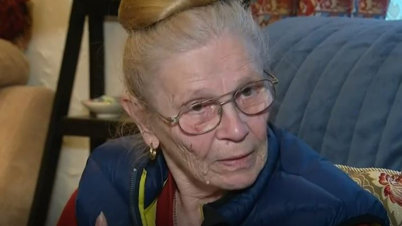 Brave 82-year-old Eva Donlon reached for a shoe and started belting one of two intruders who attacked her inside her Woodcroft cabin. Picture: 9 News