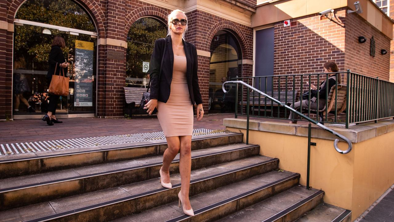 Instagram model Monique Agostino leaving Manly Court in February. Picture: AAP