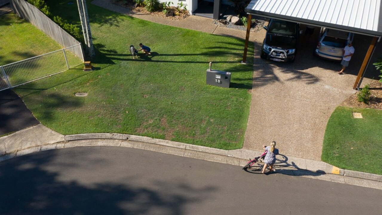 EYESORE? Aerial images show Nathan Slonim's carport, in Lilac Ct, Mooloolaba, which council says is dominating the streetscape and must be torn down.