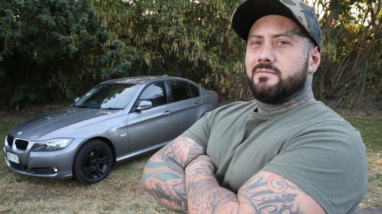Father Jake Hanson had his brand new BMW stolen, but he wasn't letting the thief get away easily.