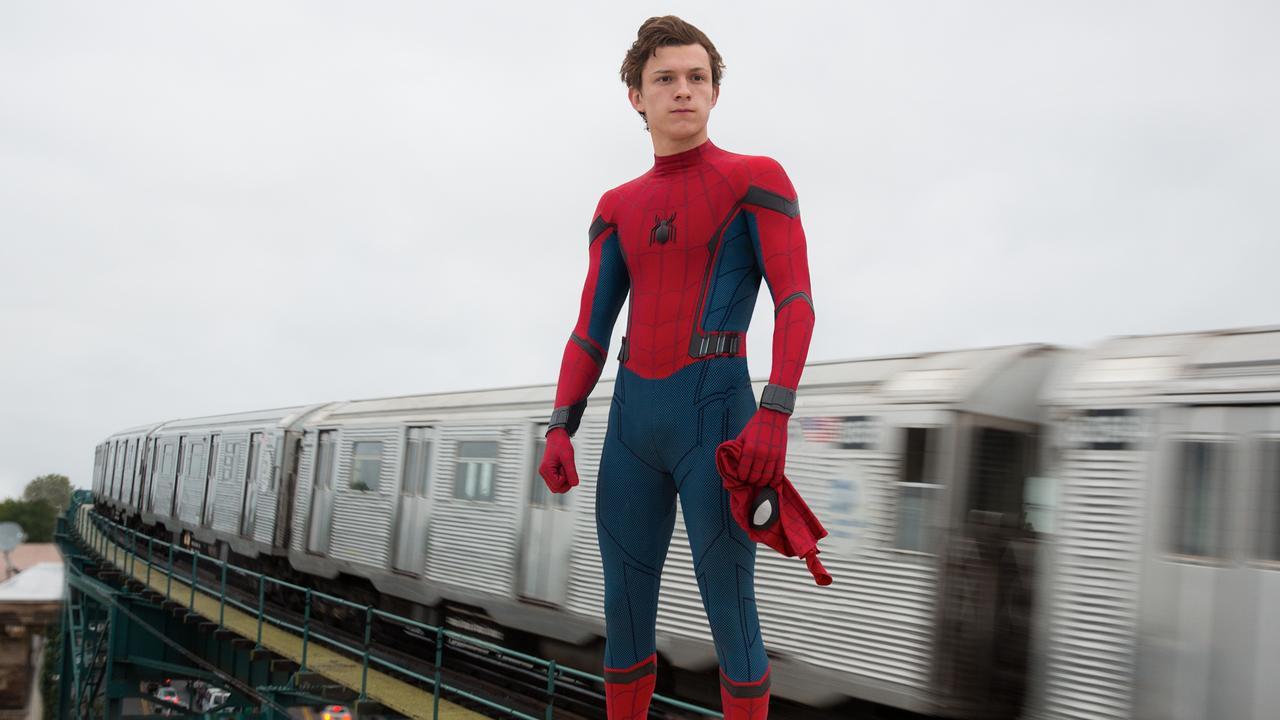 Tom Holland as Spider-Man.
