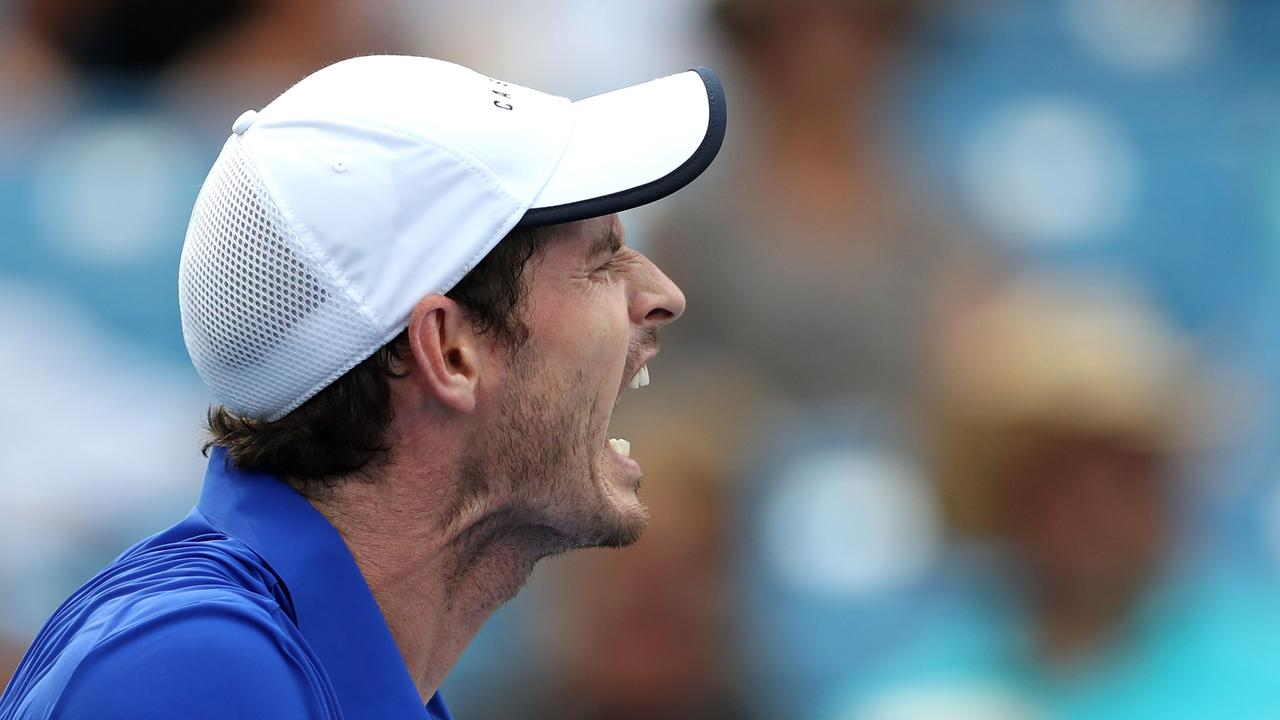 Murray wasn't a happy chap during his latest outing.