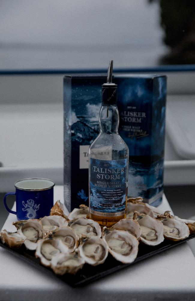Talisker whisky and oysters: a match made in heaven. Picture: Talisker