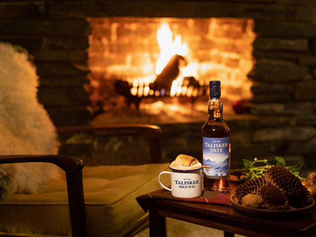 Talisker hot chocolate is a sure-fire way to warm up in winter. Picture: Talisker