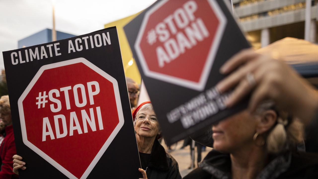 Adani protesters in Brisbane in July. Picture: Glenn Hunt/Getty Images