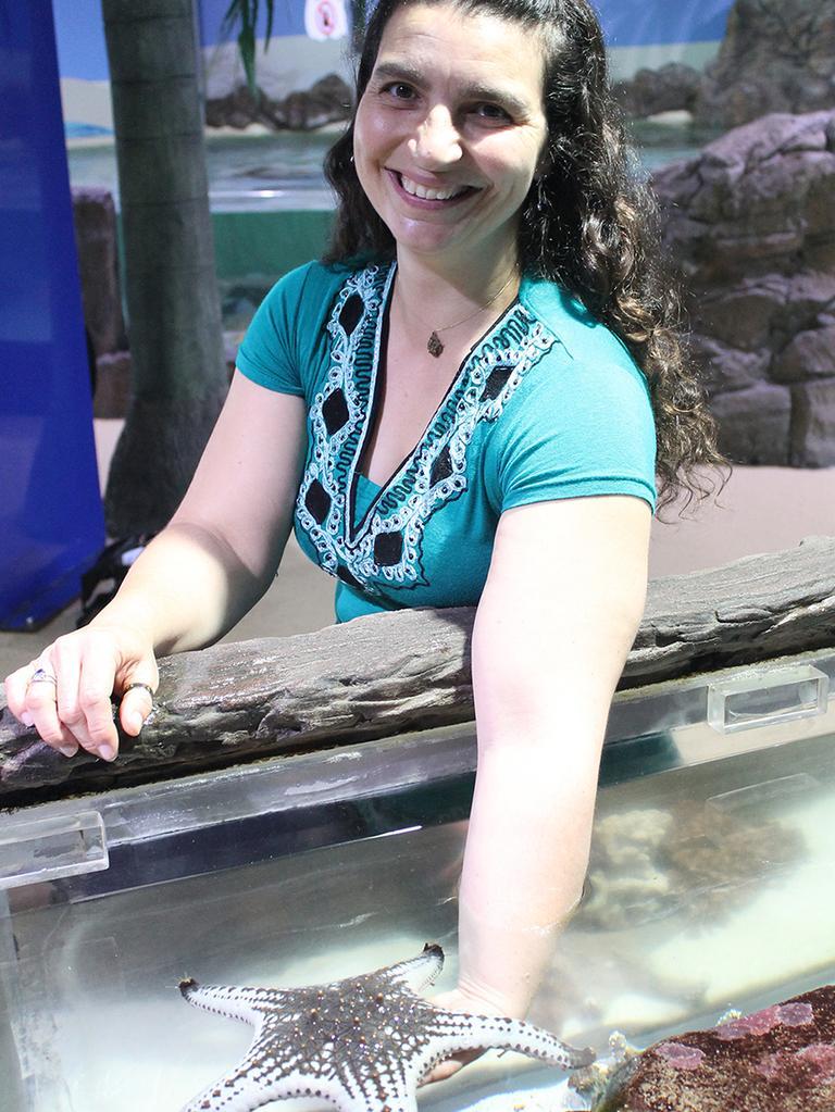 USC Science Honours graduate Lidia Davidovics-Smith at Sea Life Sunshine Coast.