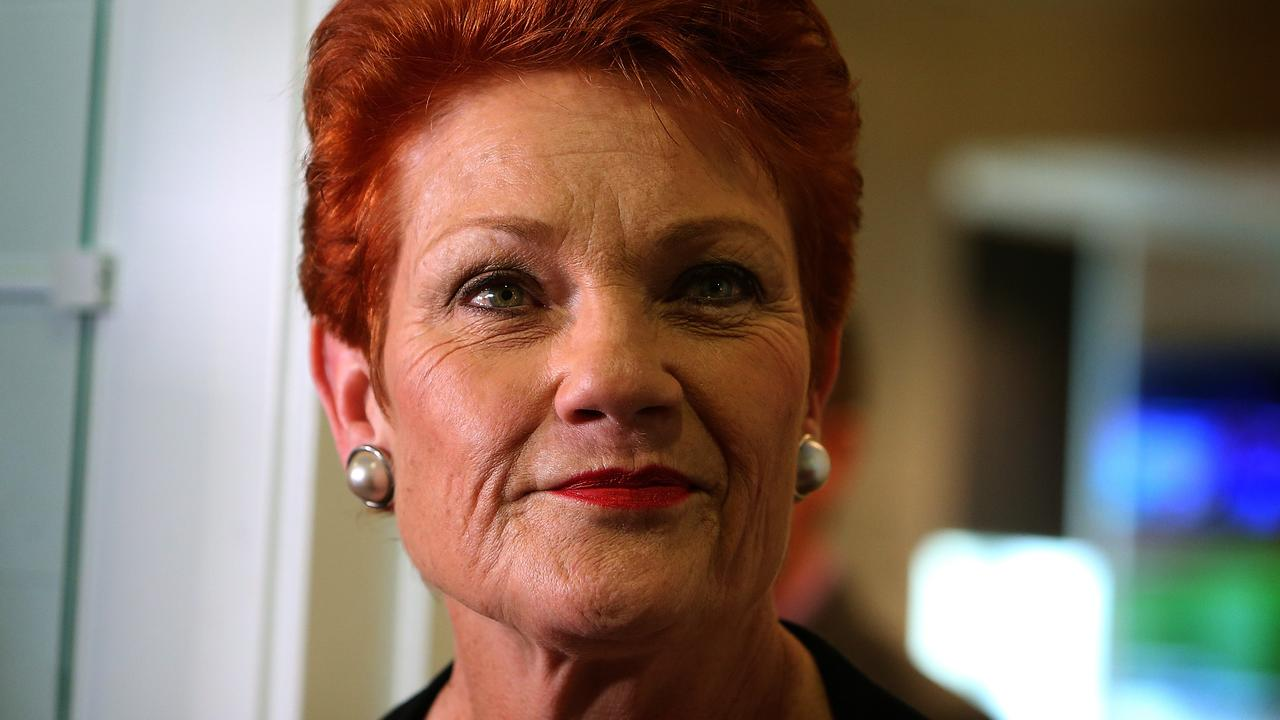 Senator Pauline Hanson at Parliament House in Canberra. PICTURE KYM SMITH