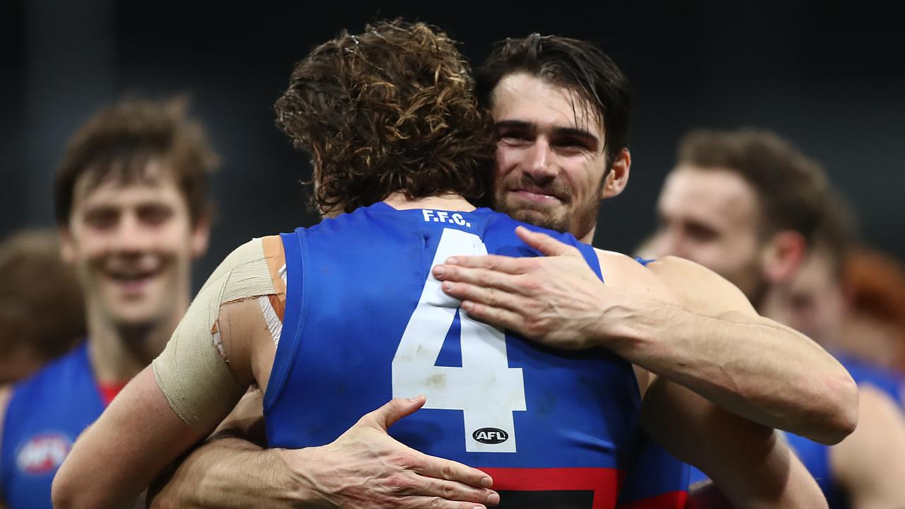 Western Bulldogs will lock in a finals berth with victory against Adelaide in Ballarat. Picture: Mark Metcalfe/Getty Images.