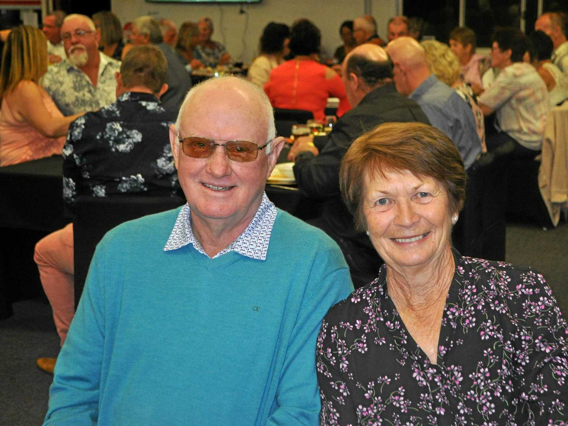 Terry and June Bulger at Yeppoon Golf Club 50th birthday celebrations.