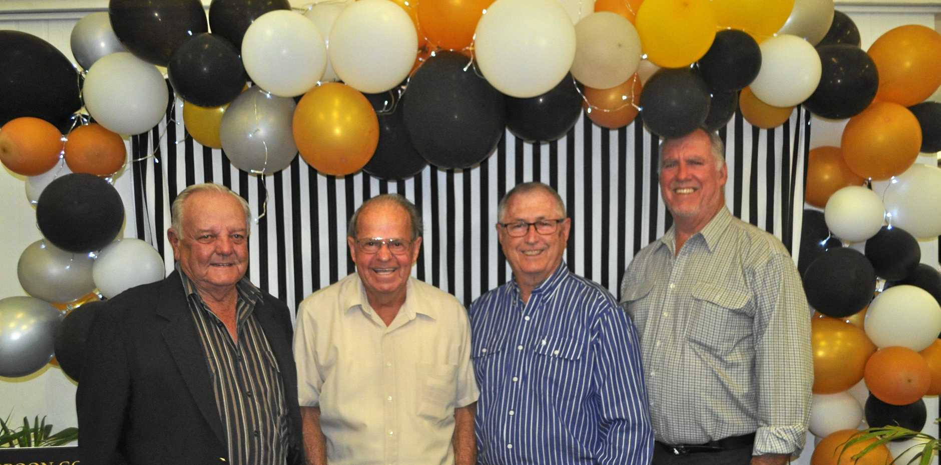 PROUD HISTORY: Past and current Yeppoon Golf Club presidents John Halberstater, John Ware, Greg Allen and Mick Cranny.