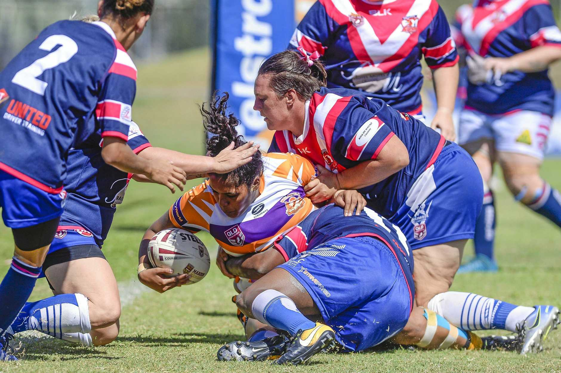 Gladstone Valleys-Roosters play Gladstone Wallabys in the Bundaberg Gladstone Intercity Womens Competition at Marley Brown Oval on 13 April 2019. PICTURED: Rikkara Benjamin