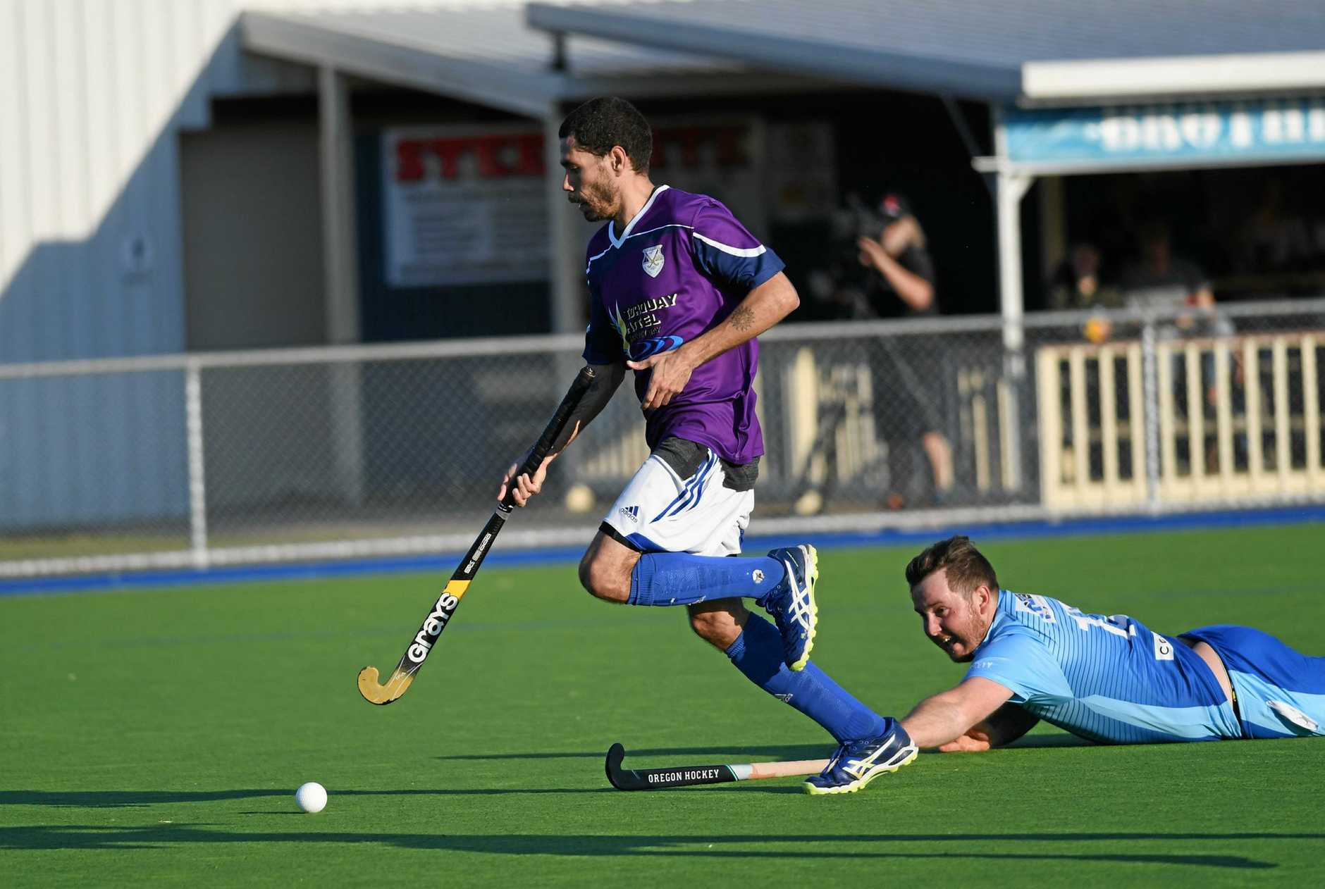 WINNERS: Hervey Bay Brothers' Mickey Clubb put the pace on as he got away from Maryborough BroRoos' Cody Goldenstein in Brothers' 6-4 win to book a place in the Fraser Coast League grand final this Saturday.