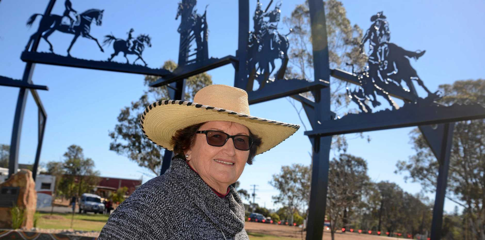 New Australian Stock Horse Society national chairperson Lorna Fanning at the Warwick Sculpture of the Horse