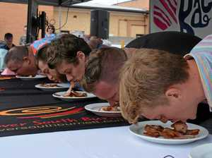 This strange trick helped bacon-eating champion to victory