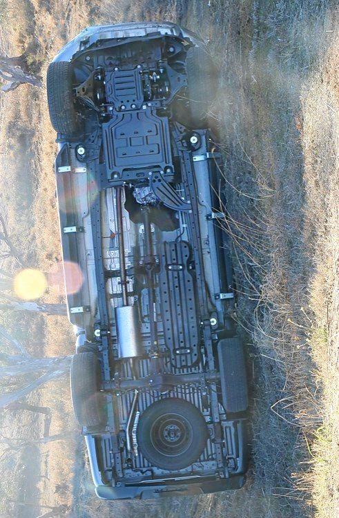 Stolen Ford Ranger after crash in Rosehill Rd Warwick