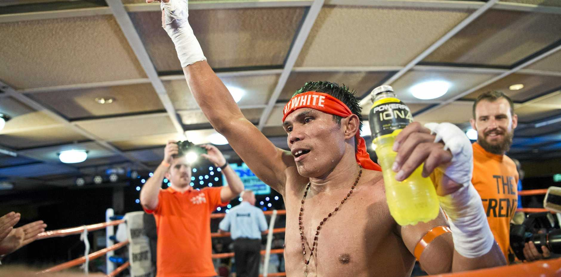 Toowoomba's Jack Asis steps back into the ring at Bankstown tonight.