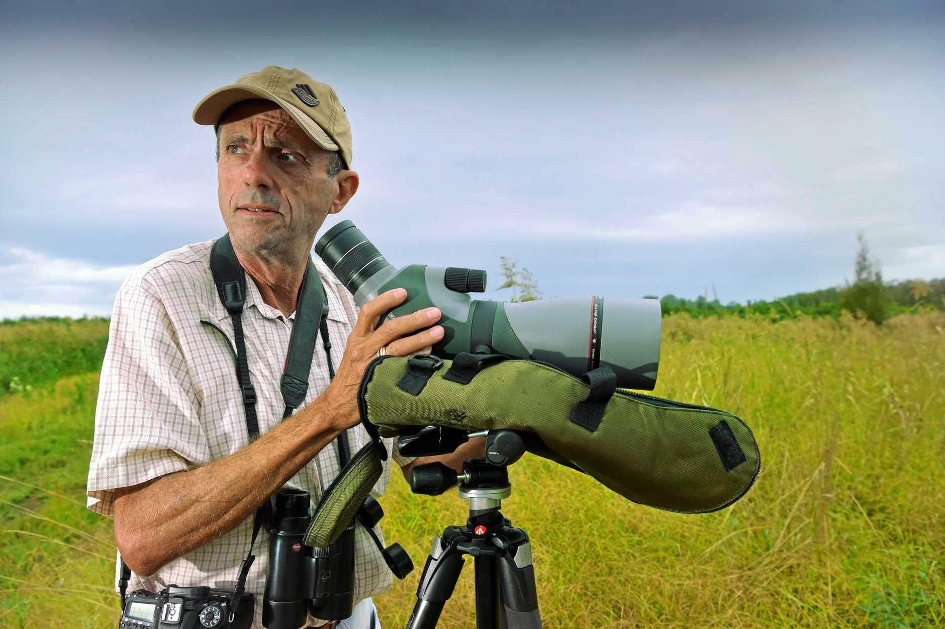 Birdwatcher Greg Roberts is concerned the Sunshine Coast is losing habitat for indigenous birdlife.