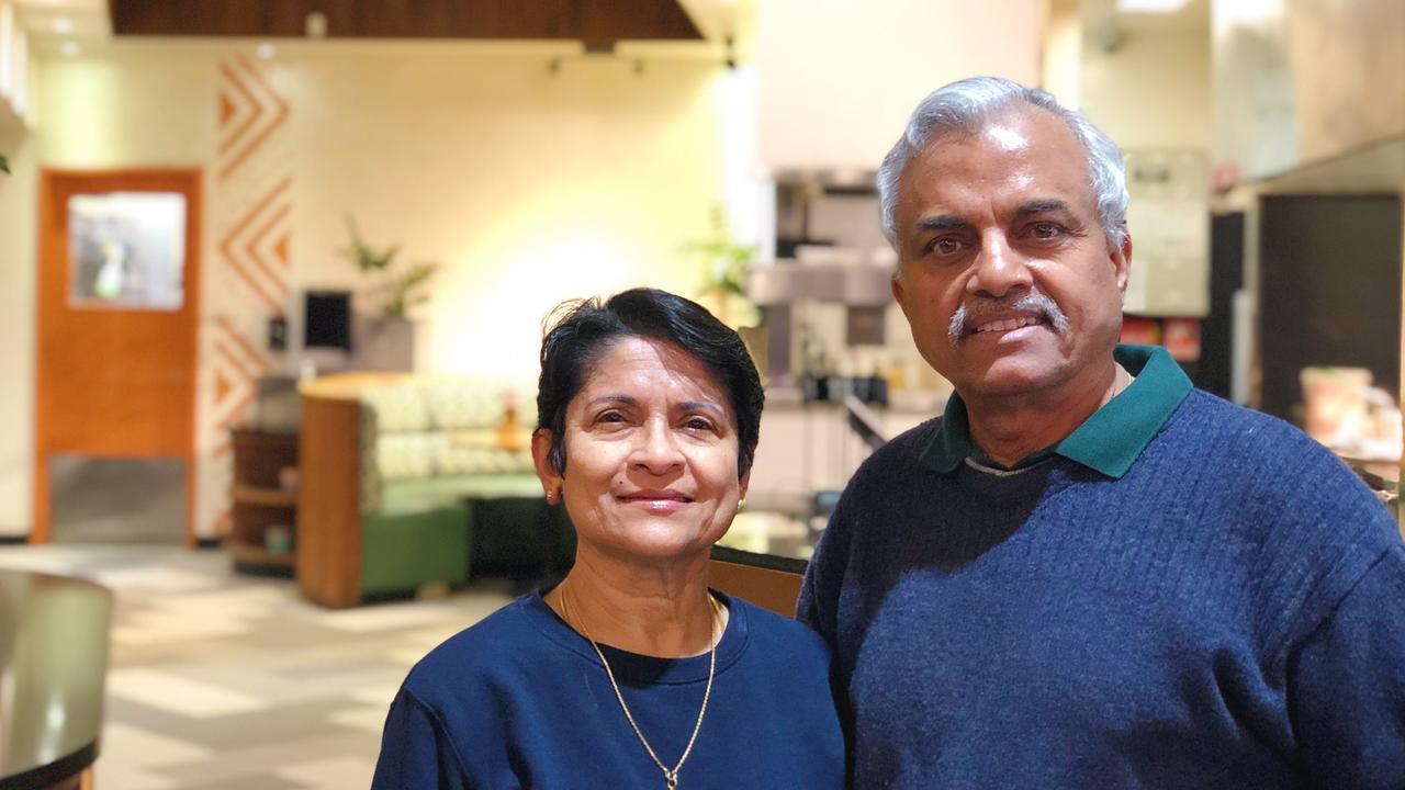 William and Jaya Manuel in their new Zambeekas restaurant.