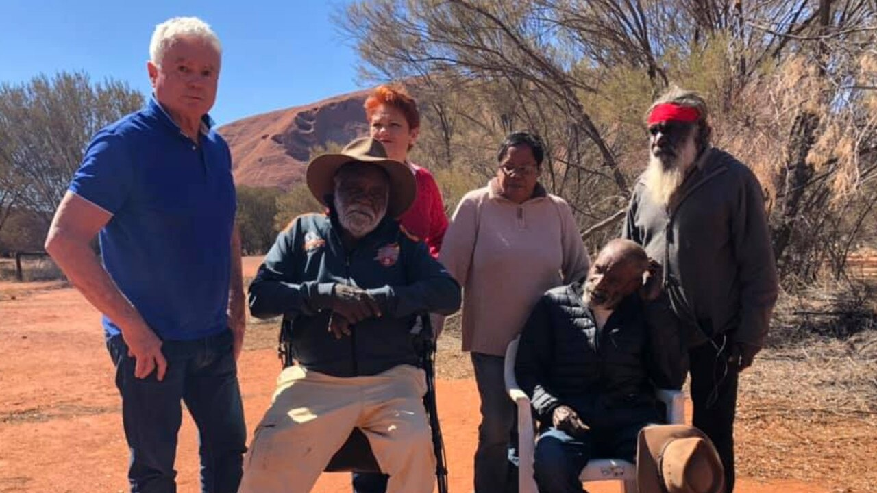 Pauline Hanson says she's been given permission by Anangu Mayatja Council of Elders, Mr Reggie Uluru and Mr Cassidy Uluru to climb Uluru