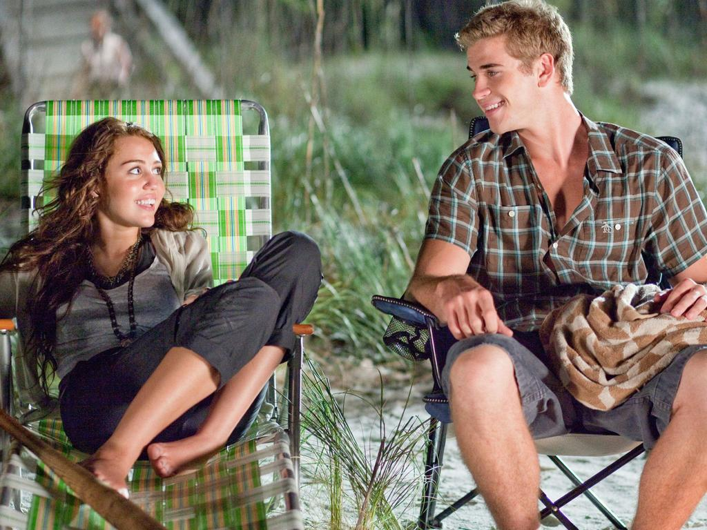 Miley Cyrus and Liam Hemsworth in a scene from the 2010 film The Last Song. Picture: Supplied