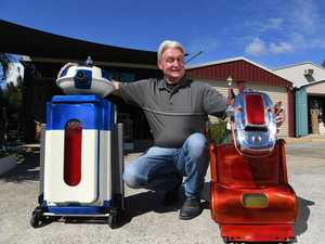 Coast man turns trash into shiny, space-age treasure