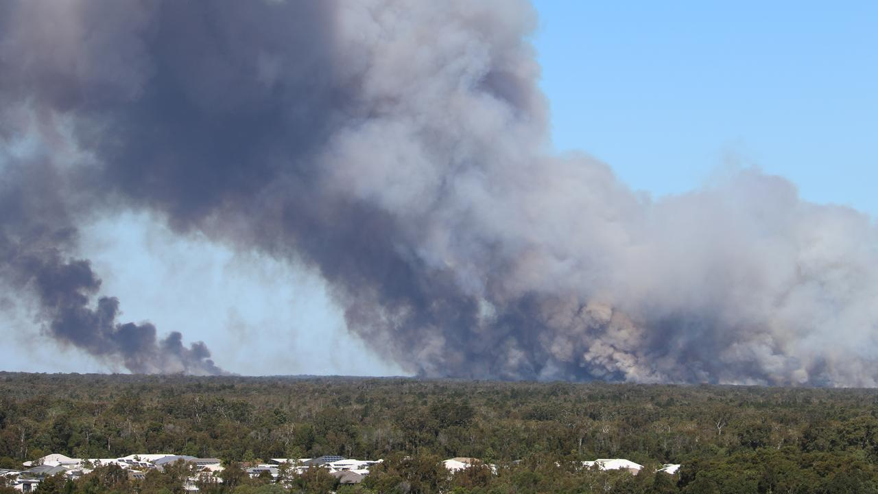 BRIBIE BURNS: A fire south of Caloundra has been burning for a couple of days now.