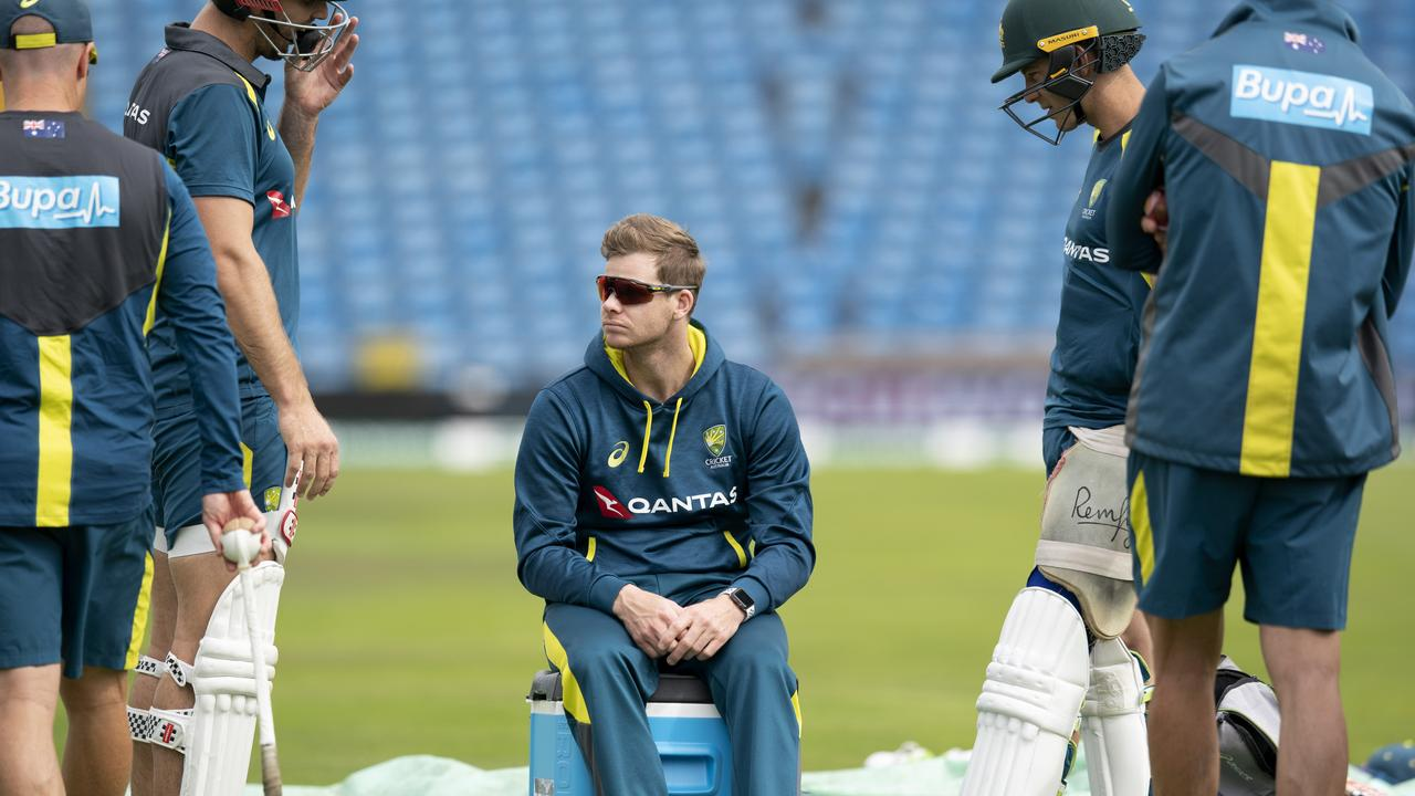 Steve Smith was on a watch-only brief during the Aussie training session.