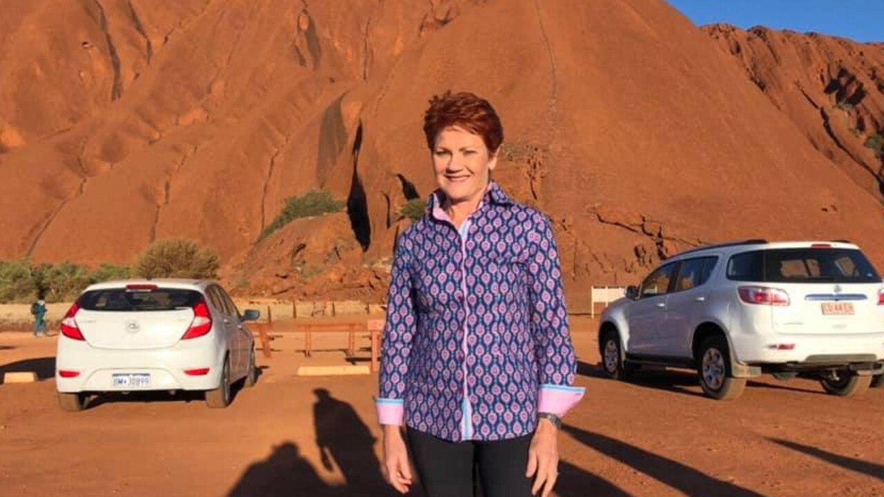 Pauline Hanson at Uluru on Wednesday. PICTURE: FACEBOOK